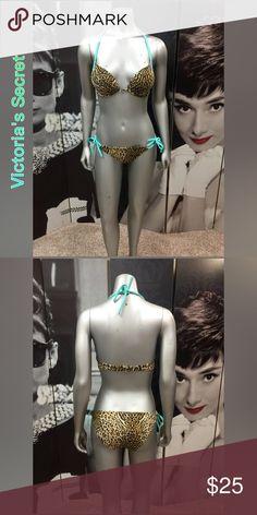 Victoria's Secret Bikini Like New Cheetah Print Victoria's Secret 2pc Push Up Swim Suit with Underwire! Perfect Condition! Top size 34C, Bottoms size Small Victoria's Secret Swim Bikinis