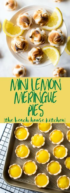 lemon meringue pie Lusciously lemony, these Mini Lemon Meringue Pies are bite-sized treats that will tickle your taste buds! Easy No Bake Desserts, Mini Desserts, Delicious Desserts, Strawberry Desserts, Paleo Dessert, Dessert Recipes, Appetizer Recipes, Appetizers, Mini Lemon Meringue Pies