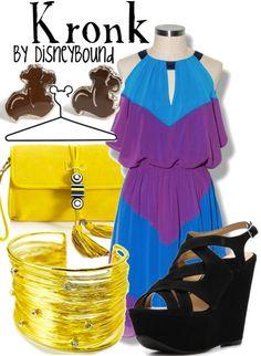 Kronk, Emperors New Groove, Sidekick, Disney Bound Disney Character Outfits, Disney Bound Outfits, Disney Dresses, Disney Clothes, Disney Characters, Disney Inspired Fashion, Character Inspired Outfits, Disney Fashion, Estilo Disney