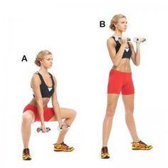 Sentadilla sumo, Este ejercicio trabaja: interior de los muslos, isquiotibiales, cuádriceps y glúteos