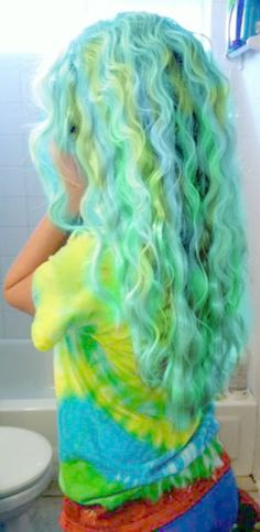 mermaid hair:) my mom would kill me, but I just want ONE streak of these colors!