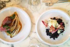 pièce de bœuf maturé cinq semaines, aubergine braisée, poivrons rouges rôtis et épinards dans un sublime jus corsé - Restaurant Vantre à Paris