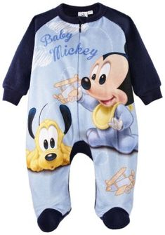 Disney Mickey Mouse Baby Boy s Onesie Pyjamas Red White 3 Months   Amazon.co.uk  Clothing 914450ed5