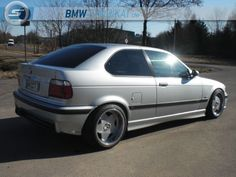 BMW e36 compact on cult classic Borbet A wheels