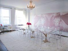 New York Interior Design Firm - Kelly Behun Studio: The Firm. Kelly Behun Studio is an interior design firm based in New Yo Best Interior, Room Interior, Interior Design, Luxury Interior, Acrylic Dining Chairs, Lucite Chairs, Lucite Table, Kelly Behun, Ghost Chairs