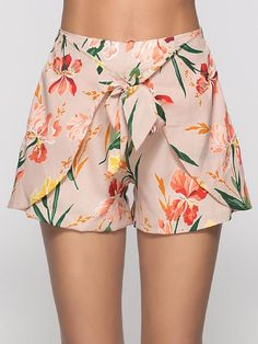 Fashion women summer floral print beach short pants workout yoga hot shorts p Hot Shorts, Belted Shorts, Loose Shorts, Pantalon Thai, Short Outfits, Cute Outfits, Stylish Outfits, Jupe Short, Chor