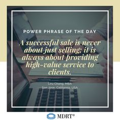 A successful sale is never about just selling; it is always about providing high-value service to clients. Insurance Business, Insurance Marketing, Sales Prospecting, Sales Motivation, Phrase Of The Day, Life Insurance Quotes, Service Quotes, Work Success, Sales Tips