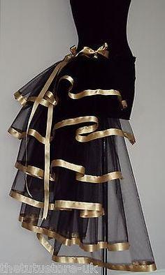 Burlesque-Black-Gold-Moulin-Rouge-Bustle-Belt-Steam-Punk-Goth-sizes-XS-S-M-L-XL