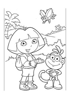 teenage dora coloring pages - photo#41