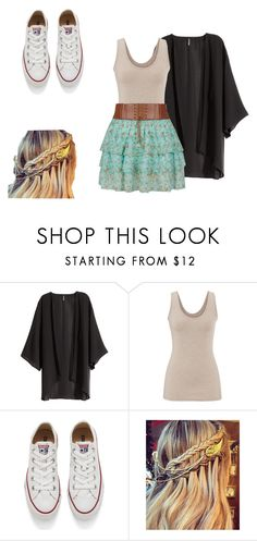 """In the summer..."" by samanthajm03 ❤ liked on Polyvore featuring H&M, maurices and Converse"