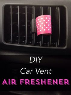 I love this idea for a car air freshener - you won't believe how easy it is!