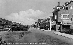 Wijk Hoograven   Julianaweg (te Jutphaas) 1940. Gezien vanaf de Rondweg, nu 't Goylaan