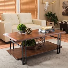 Shop for Baxton Studio Newcastle Vintage Industrial Wood and Metal Coffee Table. Get free shipping at Overstock.com - Your Online Furniture Outlet Store! Get 5% in rewards with Club O!