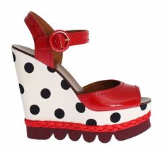 NWT $900 DOLCE & GABBANA Shoes Red Leather Strap Wedges Platform EU41 / US9.5 8058349439472 | eBay