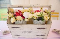 Hostess with the Mostess® - Shabby Chic floral arrangement