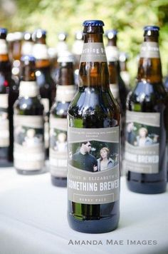 Wedding favors. Personalized labels for your beer bottles