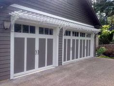 Wall Mounter Garage Trellis adds architectural details in the Craftsman style