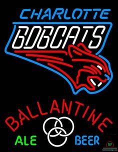 Ballantine Charlotte Bobcats Neon Sign NBA Teams Neon Light