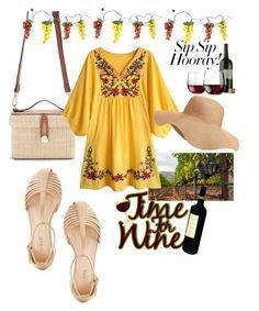 """""""Wine Tasting Outfit"""" by pramesvvari on Polyvore featuring Libbey, Bamboo, Forever 21, Old Navy, girlstrip and WineTastingOutfit"""