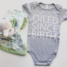 Our favorite mamas are the ones who trust and use essential oils! Oiled Since Birth onesie available at BEKAI.CO