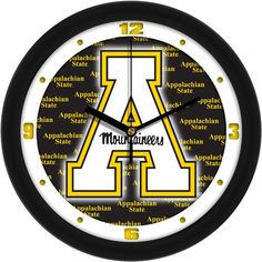 Mens Appalachian State Mountaineers - Dimension Wall Clock