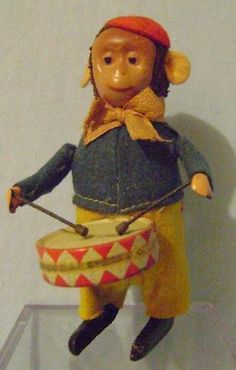 icollect247.com Online Vintage Antiques and Collectables - Schuco Wind Up Monkey Drummer Toys-Wind ups