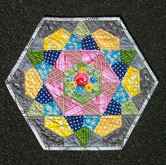 rose star quilt block - so fun!