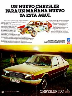 Classic cars in my childhood. Vintage ad of Chrysler 150 (circa 1978)