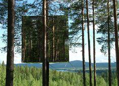 The Tree Hotel by Thum & Videgard Arkitekter is located in northern Sweden.