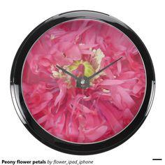 Peony flower petals aquarium clocks
