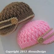 Two-Button Visor Hat - via @Craftsy