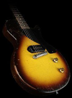 1957 Les Paul Jr - a sudden obsession. Guitar Pics, Guitar Amp, Cool Guitar, Acoustic Guitar, Gibson Lp, Gibson Les Paul Jr, Gibson Guitars, Gibson Electric Guitar, Electric Guitars