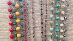 Mix & Match Necklaces. Beaded Necklace & Earring set $12.99 Mix & Match with any one of our Suede Necklaces with Charm $14.99