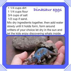 Make fun dinosaur eggs for the kids to discover what's inside.