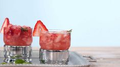 Made with just three ingredients, these Strawberry Mint Juleps are ready in no time.