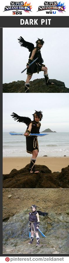 Dark Pit by the Full Attitude Cosplay in Super Smash Bros cosplay series | #Nintendo #3DS #WiiU Credits in original post at http://www.pinterest.com/zeldanet/super-smash-bros-cosplay-series/