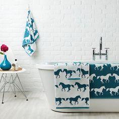"""Anorak """"Kissing Horses"""" Bath mat"""