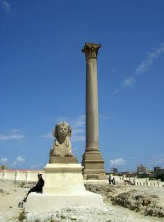 #Alexandria #Pompeys #Pillar, #Alexandria, #Egypt