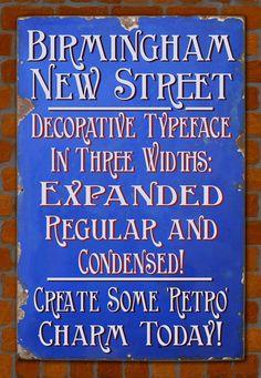 Best-Selling Retro Fonts: Greater Albion Typefounders, Birmingham New Street
