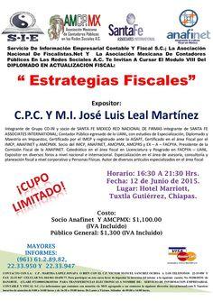 """ASISTE AL """"MÓDULO IX.- """"ESTRATEGIAS FISCALES"""""""" EL 12 DE JUNIO"""