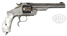 VERY RARE ENGRAVED SMITH & WESSON NO. 3 THIRD MODEL RUSSIAN SINGLE ACTION…