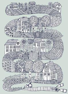 shoreline archival print by swallowfield on Etsy, $18.00