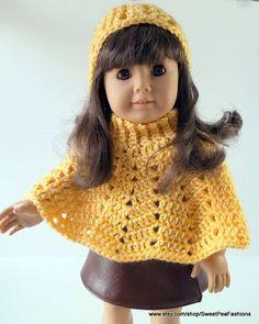 PATTERN ONLY American Girl Crochet Poncho.