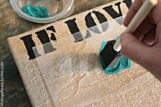 How to Make Stretched Burlap Art