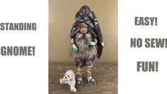 Fun Projects, Sewing Projects, Foam Rollers Hair, Gnome Tutorial, Christmas Gnome, Christmas Crafts, Cute Socks, Sewing Toys, Cute Crafts