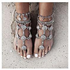 bohemian foot jewelry