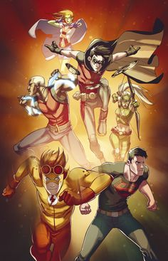 Young Justice- Robin, Superboy,Kid Flash,Aqualad,Artemis and Miss Martian Comic Book Characters, Comic Book Heroes, Comic Character, Comic Books Art, Comic Art, Kid Flash, Beast Boy, Tim Drake, Robin