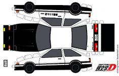 One sheet-Cut-Fold and car_papercraft__fujiwara_tofu__by_midnightuner Paper Model Car, Paper Car, Paper Toys, Paper Crafts, Toyota Trueno, Toyota Prius, Corolla Ae86, Toyota Corolla, Rolls Royce