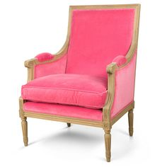 Butaca de terciopelo rosa