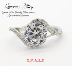 2.50ct AAA CZ .925 Solid Sterling Silver Engagement Ring. Starting at $1